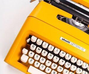 yellow, vintage, and typewriter image