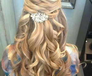 beautiful, hairstyle, and bride image