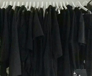 aesthetic, black, and closet image