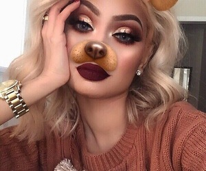 pretty, kyliejenner, and makeupgoal image