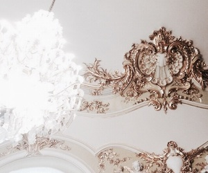 ceiling, chandelier, and luxury image