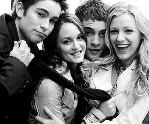 gossip girl, serena, and blair image