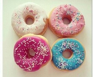 donuts, eat, and food image