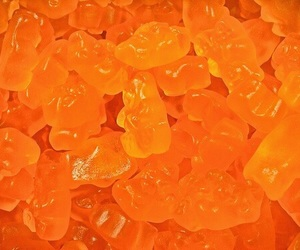 orange, aesthetic, and gummy image