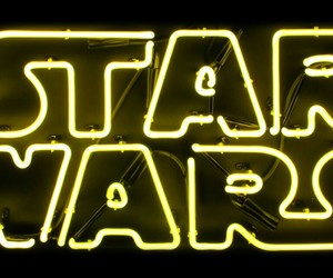star wars, neon, and yellow image