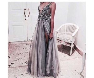 dress, fashion, and grey image
