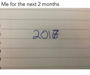 funny, new year, and 2017 image