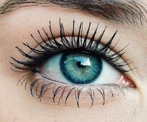 beautiful, eyelashes, and green image