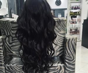 beautiful, black, and black hair image