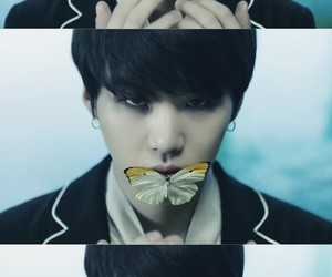 suga, bts, and butterfly image