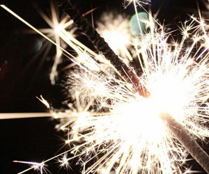 light, new year, and sparkler image