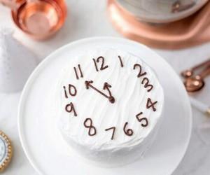cake, new year, and clock image
