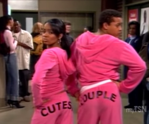 couple, pink, and funny image