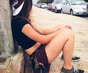 fashion, skaterboard, and girl image