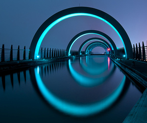 architecture, blue, and glow image