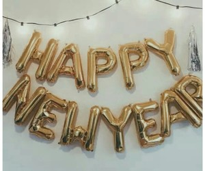 happy new year, 2017, and gold image