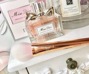 candle, bold metals, and dressing table image