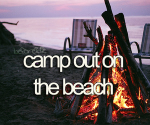 beach and camp image