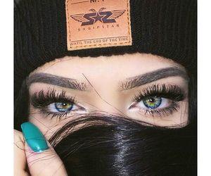 beautiful, make up, and blue image