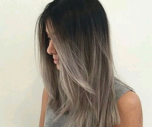 beautiful, girl, and gris image