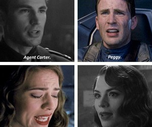 captain america, peggy carter, and chris evans image