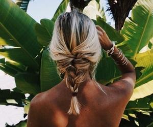 hair, summer, and braid image