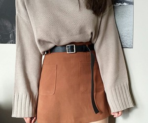 aesthetic, knits, and skirt image