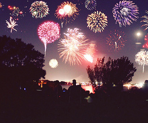 fireworks, sky, and 2017 image