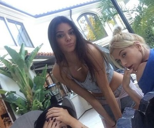 kendall jenner, kylie jenner, and hailey baldwin image