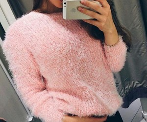 girl, pink, and style image