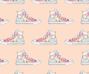wallpaper, converse, and pattern image