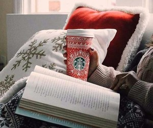 beuty, book, and coffe image