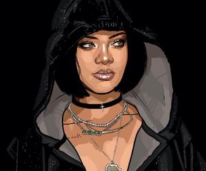 rihanna, art, and riri image