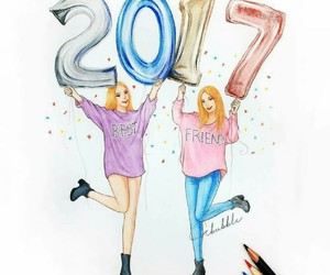 2017, art, and best friends image