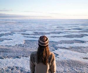 amazing, girl, and landscape image
