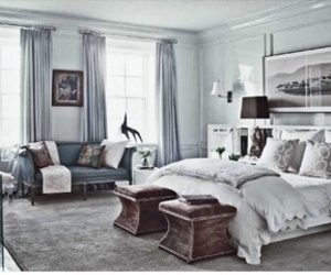bedroom, blue, and fashion image