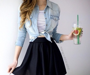 outfit, style, and skirt image