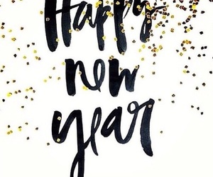 new year, 2017, and happy image