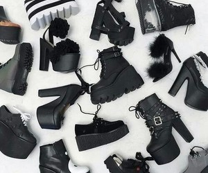 black, shoes, and goth image