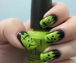 nails, green, and Halloween image