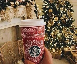 christmas, coffe, and starbucks image
