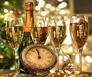 celebrate, champagne, and countdown image