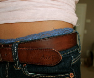 belt, girl, and jeans image
