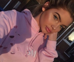 girl, beauty, and pink image