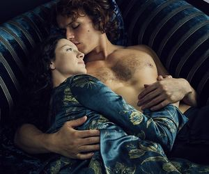 outlander, Claire, and jamie image
