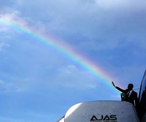 obama and rainbow image