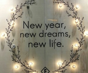 new year, 2017, and Dream image