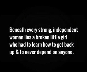 girl, independent, and quotes image