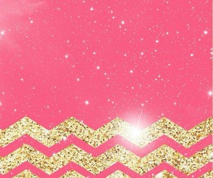 glitter, gold, and pink image