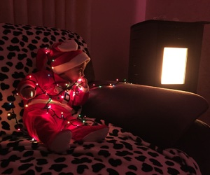 baby, lights, and new year image